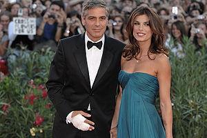 Elisabetta Canalis - Elisabetta Canalis with George Clooney at 66ª Venice Film Festival (2009)