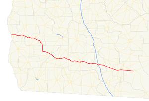 Georgia State Route 37 - Image: Georgia state route 37 map