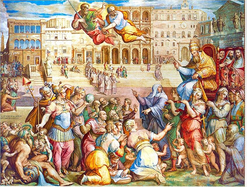 Giorgio Vasar retour idéalisé de Grégoire XI à Rome