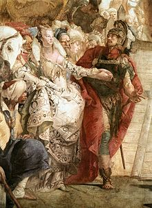 Giovanni Battista Tiepolo - The Meeting of Anthony and Cleopatra (detail) - WGA22306.jpg