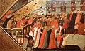 Giovanni francesco toscani, fronte di cassone con il palio della corsa dei barberi a firenze, 1418, 02.jpg