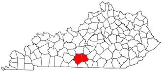 Glasgow, Kentucky, micropolitan area - Location of the Glasgow Micropolitan Statistical Area in Kentucky