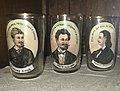 Glasses with potraits of Serbian poets, Sarajevo, Despić House.jpg