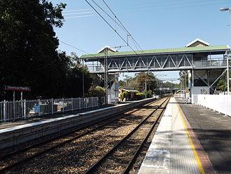 Sunshine Coast railway line - Glasshouse Mountains station in September 2012