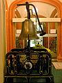 Glockengeläut mit Uhrwerk J. F. Weule Bockenem 1895 mit der Glocke Gew. von H. Droste 1925 Café am Eingang Stift zum Heiligen Geist Hannover.jpg