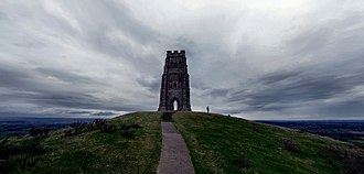 Avalon - A view from Glastonbury Tor in 2014