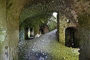 Gościszów Ruiny zamku ksiazecego pomieszczenia w przyziemiu.JPG