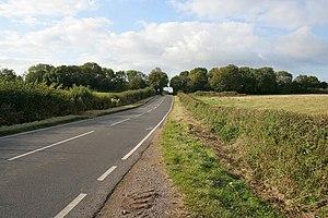 English: Goadby Road Looking towards Eastwell....