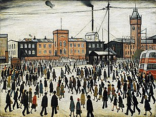 L. S. Lowry's Going to Work; 1959.