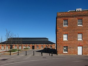 Victualling Commissioners - The former slaughterhouse (left) at Gosport's Royal Clarence Victualling Yard.