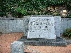 Eugen d'Albert - Grave of d'Albert at the cemetery of Morcote
