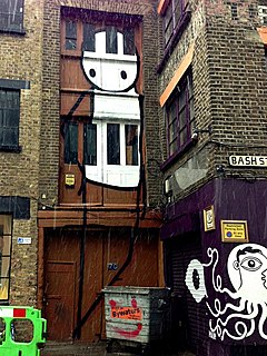 Stikによるロンドンのショーディッチの落書き