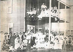 Asher, Oklahoma - Graham Hotel on Asher's Main Street, 1918.