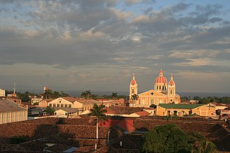 Granada, Nicaragua - La Catédral de Granada, seen from la Iglesia de la Merced
