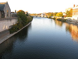 Grand River looking north from Main St Bridge in Galt.jpg