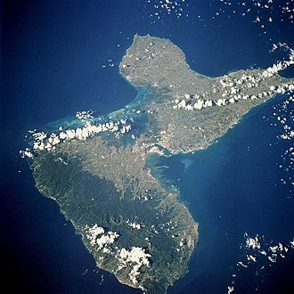 Basse-Terre Island - Basse-Terre Island (bottom left) from space, September 1994. North is to the upper left in this view.