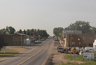 Granville, North Dakota - Looking north in Granville