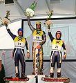 Grass Skiing World Championships 2009 Giant Slalom Men Flower Ceremony.jpg