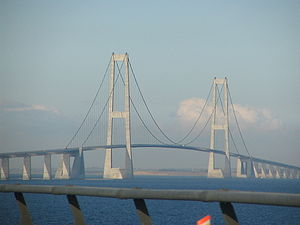 European route E20 - Image: Great Belt Bridge TRJ1
