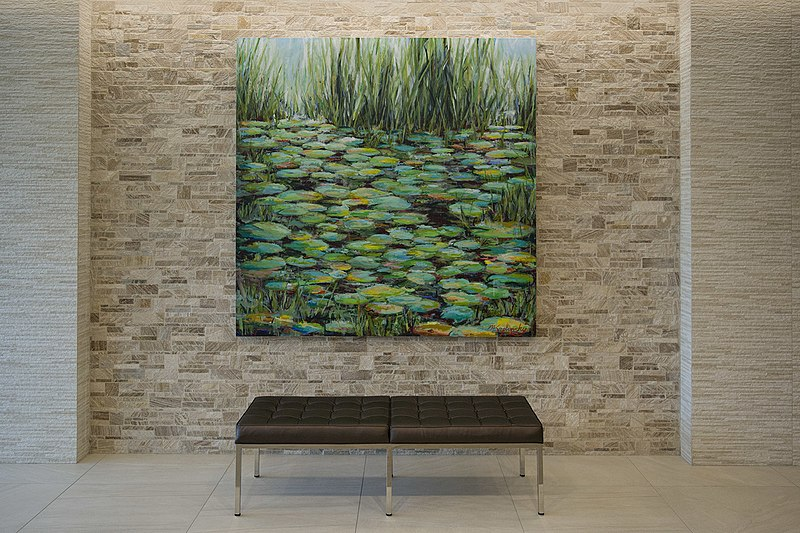Great Pond Installed - 72x72 acrylics on canvas by Matt Kaplinsky.jpg
