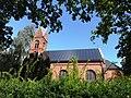 Greifswald-Wieck Bugenhagenkirche Photovoltaikanlage August 2014.JPG