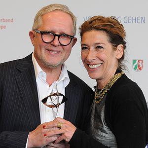 Harald Krassnitzer - Harald Krassnitzer with Adele Neuhauser at Grimme-Preisverleihung 2014