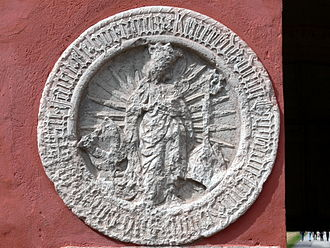 Mariefred Charterhouse - Arms of Mariefred Charterhouse: carving in Gripsholm Castle