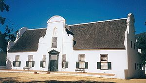 History of South African wine - Wine cellar on the Groot Constantia estate
