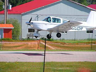 Aircraft noise - Small general aviation aircraft produce localized aircraft noise.