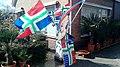 Grunnegs Houkje Groninger flags on display, Blijham (2020) 01.jpg