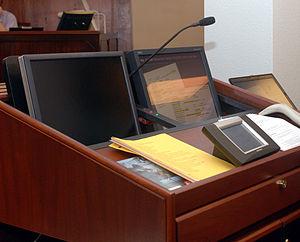 Ibrahim al Qosi - Image: Guantanamo court room control system