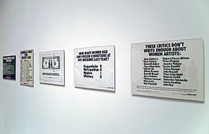 Feminist art movement in the United States - Guerilla girls exhibit, Museum of Modern Art (MoMA)