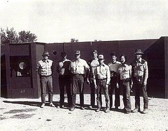 Gunsite Academy - Gunsite Ranch First Class September 1976. Bill Garland, Bruce Nelson, Jeff Cooper, Ronin Colman, Paul Carrara, Charles Avery, Israeli Guy, Dick Brooks