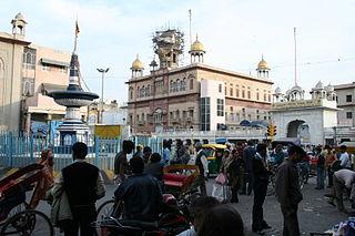 one of the nine historical gurdwaras in Delhi