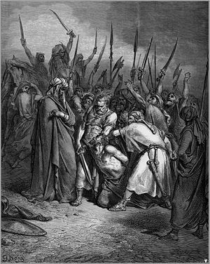 Herem (war or property) - Gustave Doré, The Death of Agag. Agag was executed by Samuel as part of God's command to put the Amalekites under herem (1 Samuel 15).