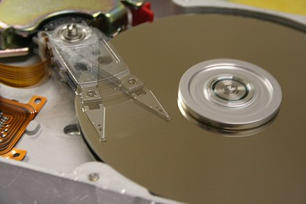 Hard disk drives are common storage devices used with computers. HDDspin.JPG