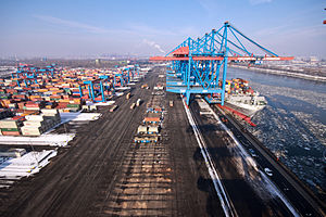Container Terminal Altenwerder - CTA in February 2010