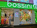 HK Causeway Bay 啟超道 Kai Chiu Road night shop Bossini clothing Mar-2013.JPG