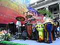 HK Central 中環 遮打道 Chater Road stage live band drums July-2012.JPG