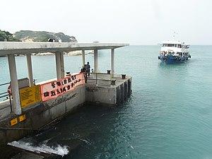 Po Toi - Tsui Wah Ferry vessel arriving at Po Toi public pier