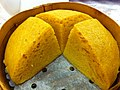 HK Sheung Wan 寶湖金宴 Treasure Lake Seafood Restaurant food Chinese Steamed Sponge Cake 馬拉糕 Mah Lai Goh Jan-2013.JPG