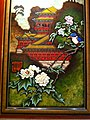HK TST East 64 Mody Road 九龍香格里拉酒店 Kowloon Shangri-La Hotel wall picture Chinese houses n flowers Nov-2012.JPG