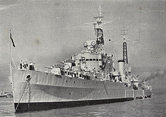 Royal New Zealand Navy - HMNZS Royalist in Waitemata Harbour, 1956