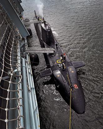 RFA Diligence (A132) - Image: HMS Ambush Alongside RFA Diligence MOD 45155418