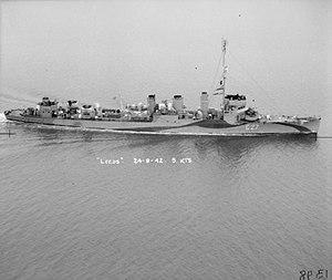 USS Conner (DD-72) - HMS Leeds