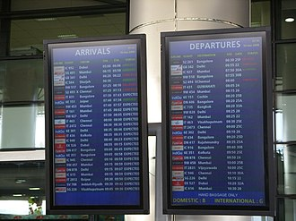 Flight cancellation and delay - One of the flights shown here is delayed