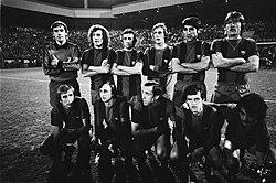 Halve finale Uefa-cup PSV tegen Barcelona 3-0, elftal Barcelona, Bestanddeelnr 929-6484.jpg