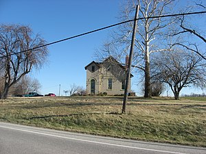 Hamilton Township, Delaware County, Indiana - A former school, now a house, in the township
