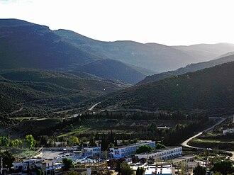 Hammam Essalihine - Image: Hammam Essalhine Aquae Flaviane Khenchela Mont View 2