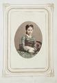 Handkolorerat fotografiporträtt på Wilhelmina Kempe, 1860-tal - Hallwylska museet - 107796.tif